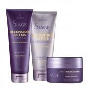 Kit Eudora Reconstrói os Fios - Shampoo, Condicionador e Máscara