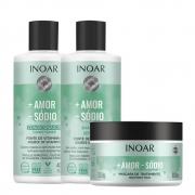 Kit Inoar Mais Amor Menos Sódio - Shampoo, Condicionador e Máscara