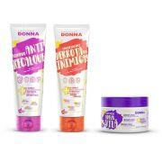 Kit Professional Donna - Shampoo, Condicionador e Máscara de Hidratação