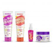 Kit Professional Donna - Shampoo, Condicionador, Máscara de Hidratação e Óleo