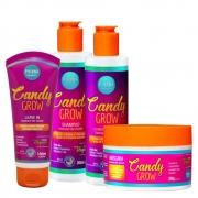 Kit Phinna Candy Grow - Shampoo, Condicionador, Máscara e Leave-In