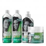 Kit Soul Power Aloe Babosa - Shampoo, Condicionador, Máscara e Creme Para Pentear