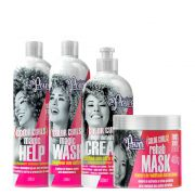 Kit Soul Power Color Curls - Shampoo, Condicionador, Máscara e Creme Para Pentear