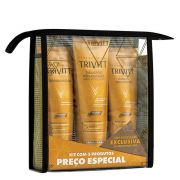 Kit Itallian Home Care Trivitt Professional com Leave-in Hidratante