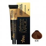 Magic Color Coloração Exclusive Magic 8.34 Louro Claro Dourado Acobreado - 60g