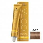 Schwarzkopf Igora Absolutes 8-07 Louro Claro Natural Cobre - 60ml