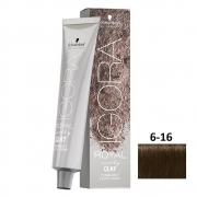 Schwarzkopf Igora Earthy Clay 6-16 Louro Escuro Cendré Chocolate - 60g