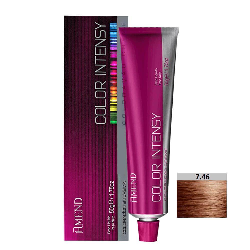 Amend Color Intensy 7.46 Louro Médio Cobre Avermelhado - 50g