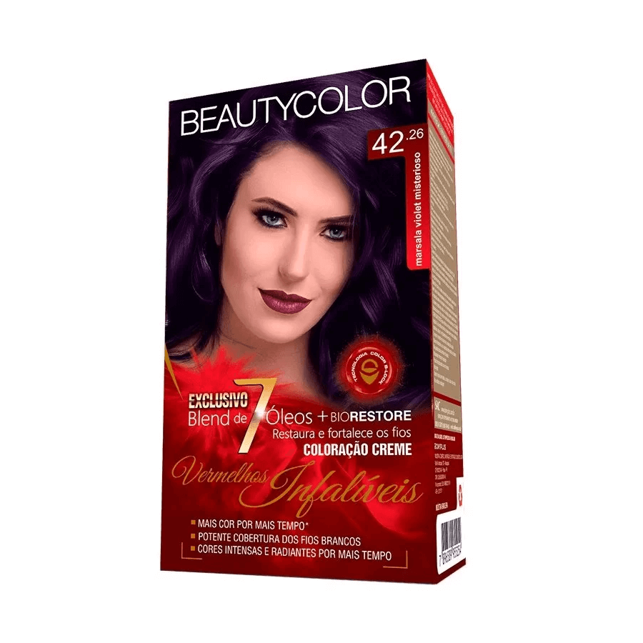 Beauty Color Kit Coloração 42.26 -  Marsala Violet Misterioso