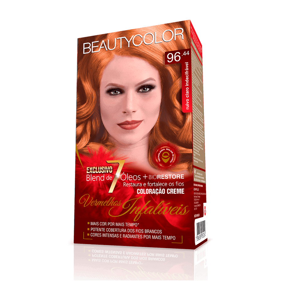 Kit BeautyColor 96.44 - Ruivo Claro Indecifrável