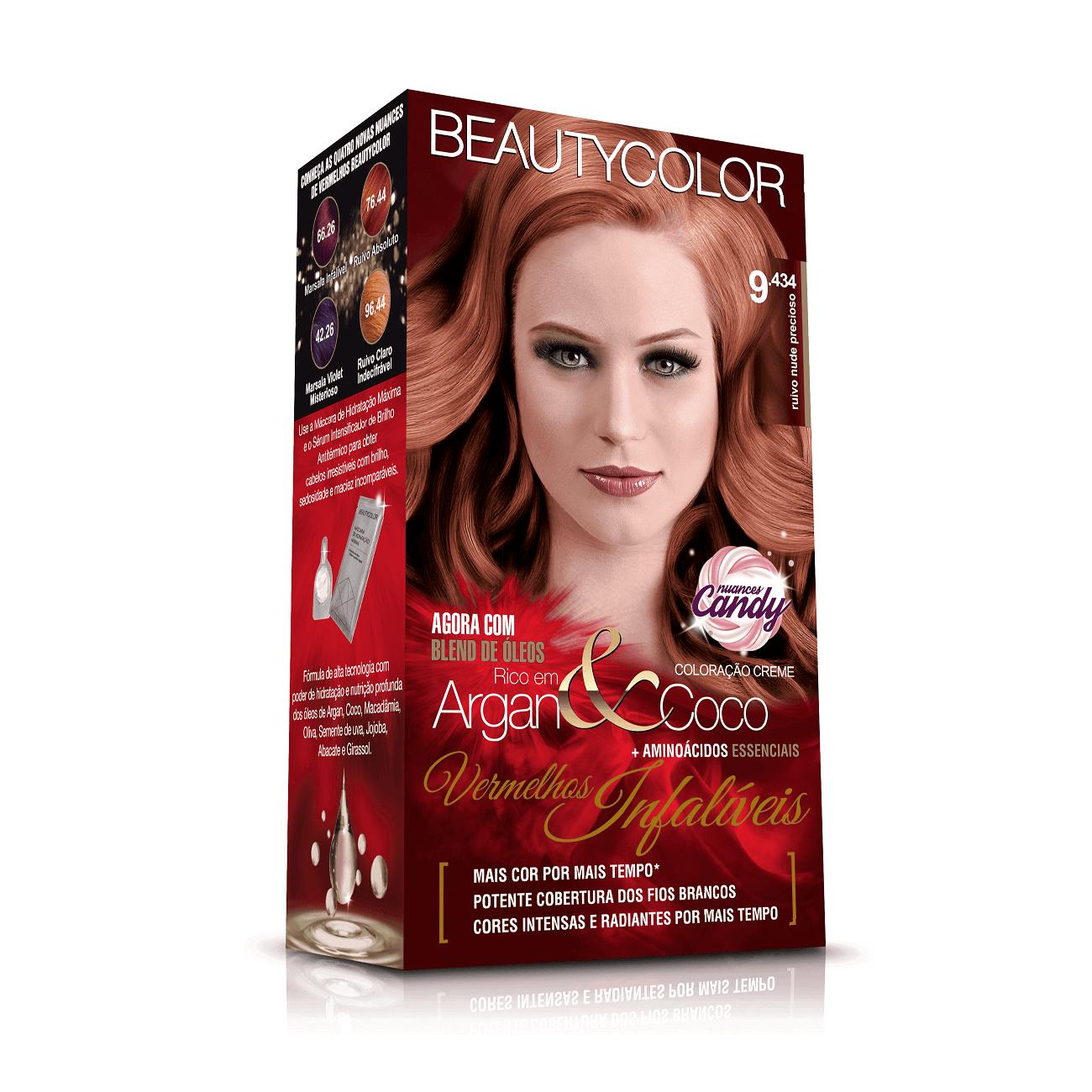 Kit BeautyColor 9.434 - Ruivo Nude Precioso