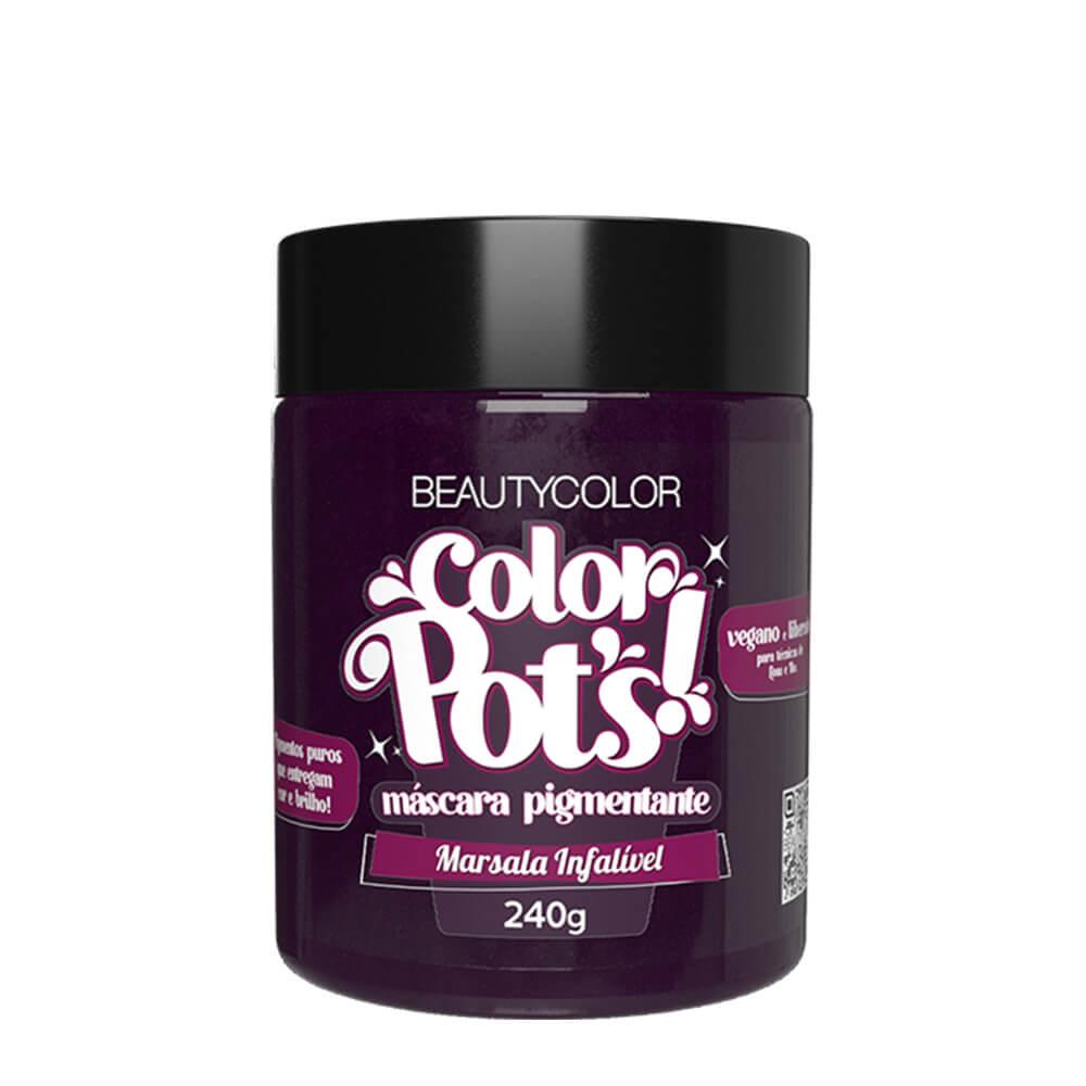 BeautyColor Máscara Pigmentante Color Pots Marsala Infalivel - 240g