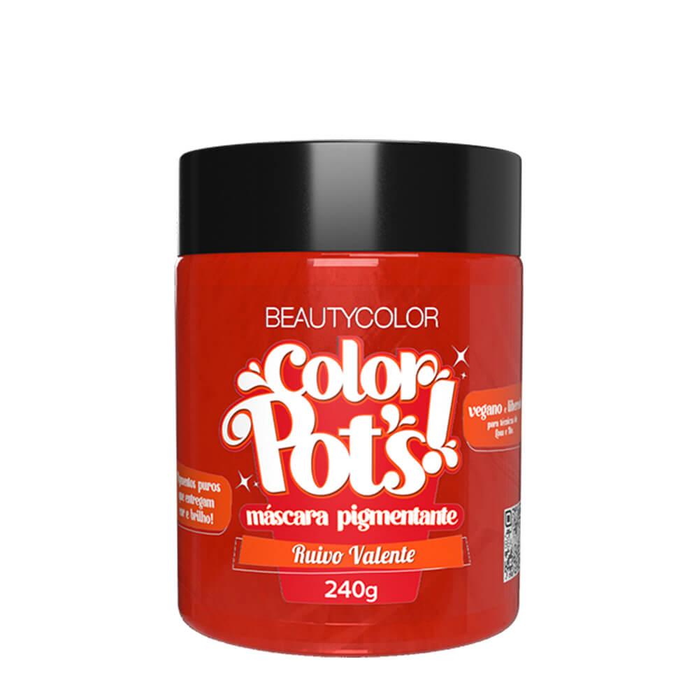 BeautyColor Máscara Pigmentante Color Pots Ruivo Valente - 240g