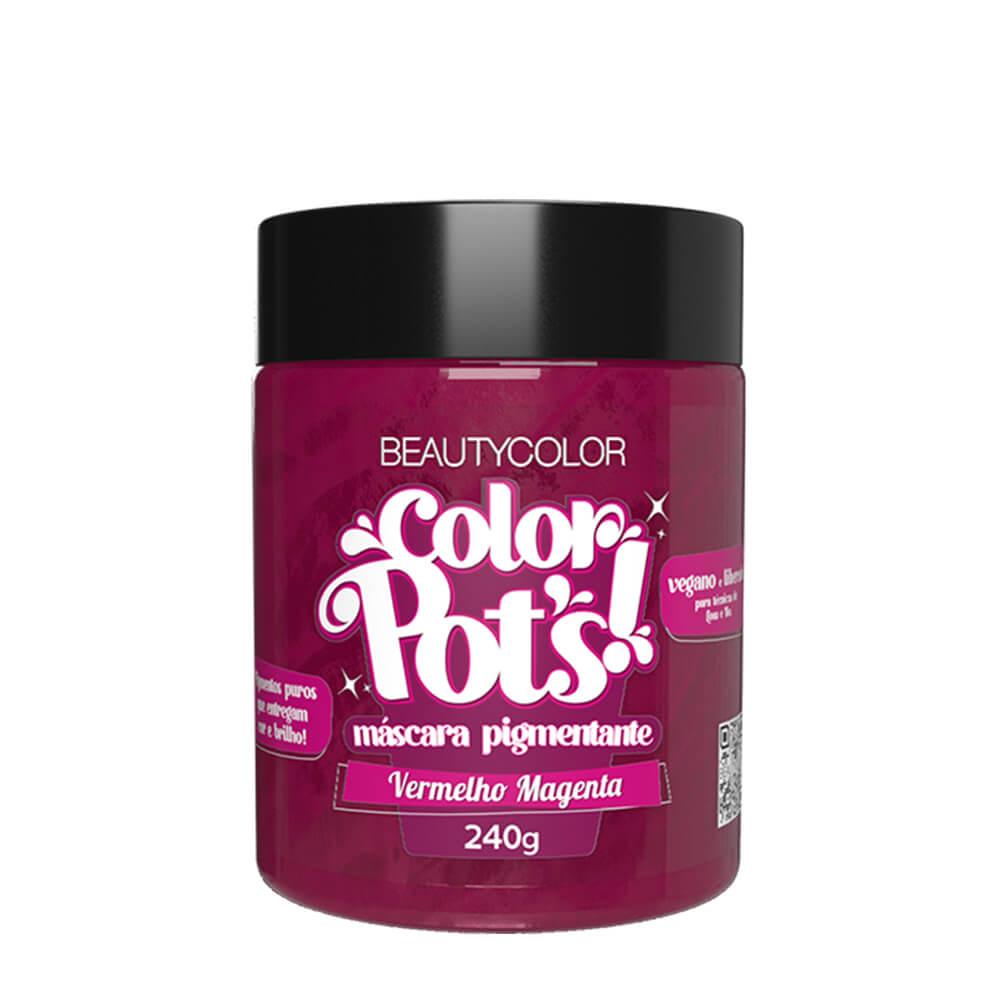 BeautyColor Máscara Pigmentante Color Pots Vermelho Magenta - 240g