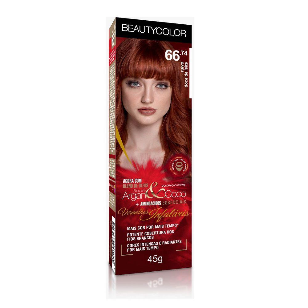 BeautyColor Coloração 66.74 Ruivo Doce de Leite - 45g