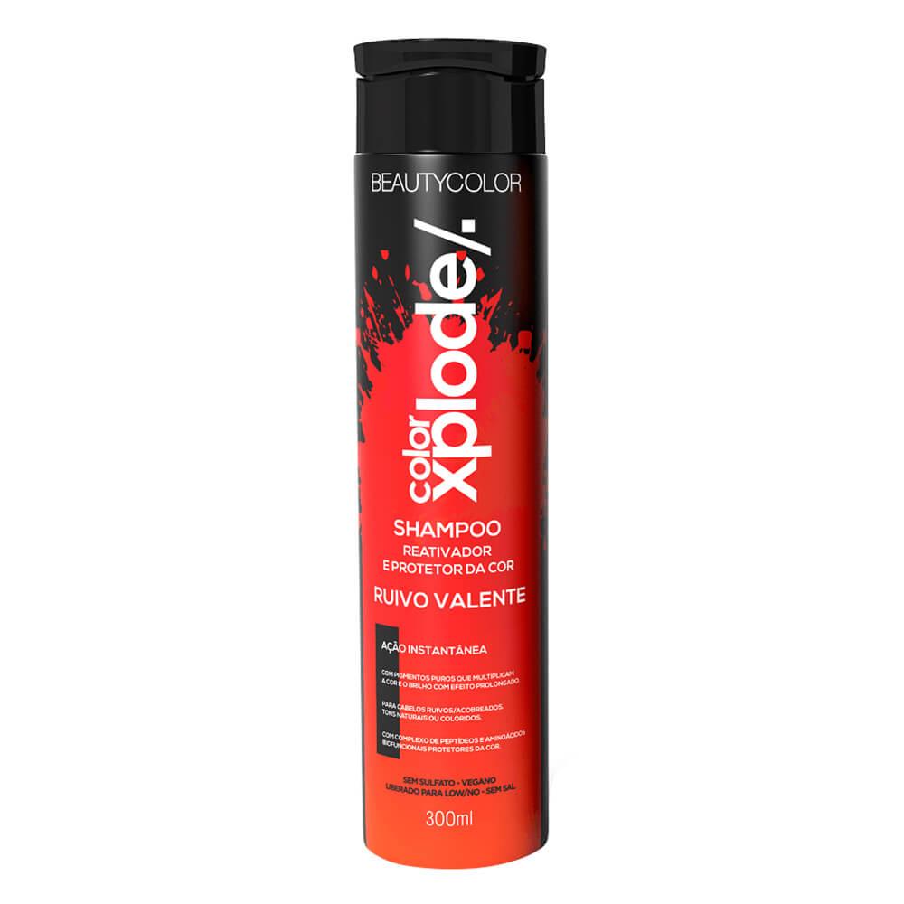 BeautyColor Shampoo Ruivo Valente Color Xplode - 300ml