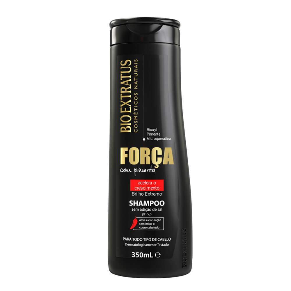 Bio Extratus Shampoo Sem Sal Força com Pimenta Acelerador de Crescimento - 350ml