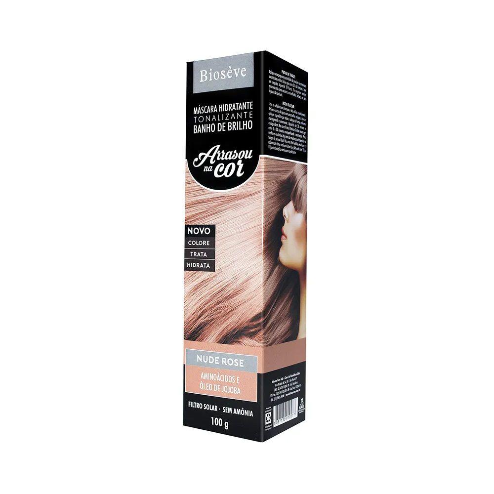 Biosève Máscara Hidratante Tonalizante Arrasou na Cor Nude Rose - 100g