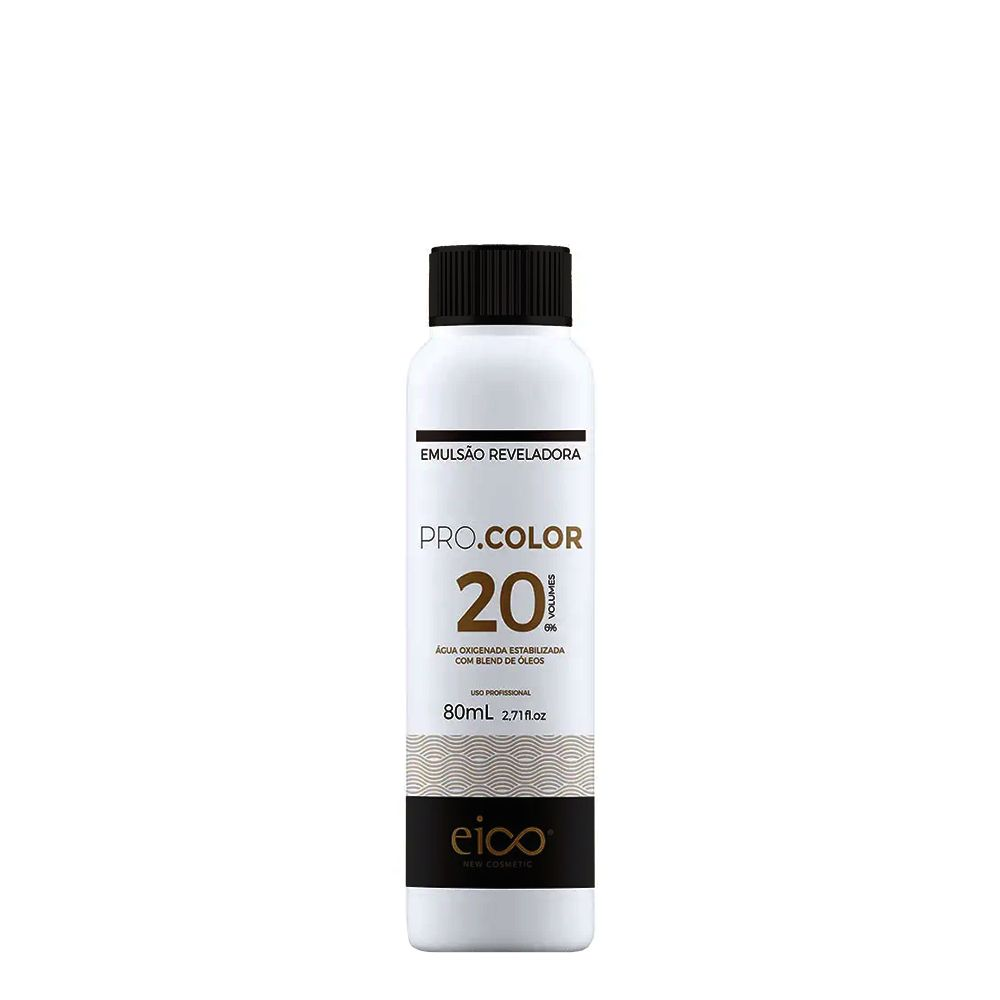 Eico Água Oxigenada Pro.Color 20vol / 6% - 80ml
