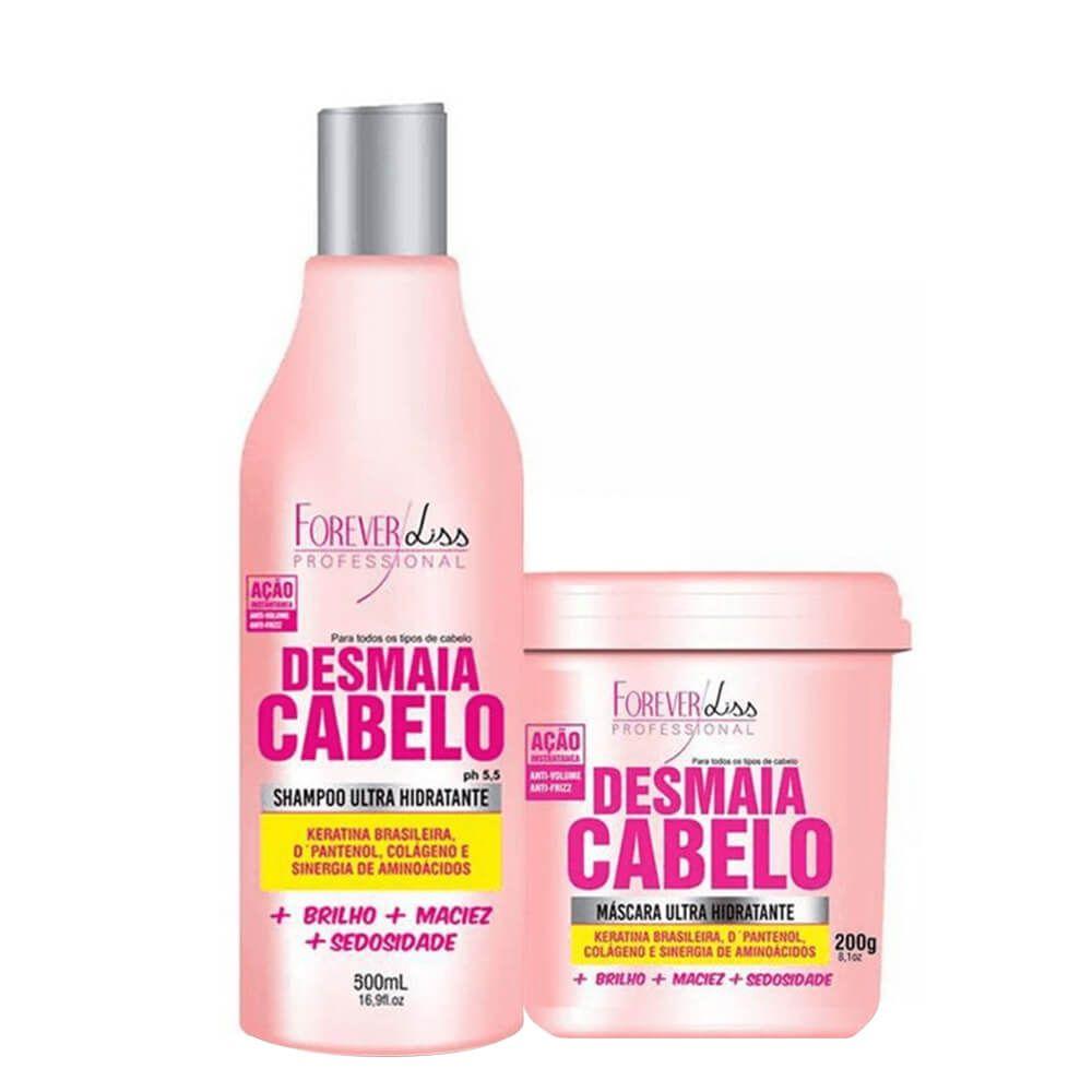 Kit Forever Liss Desmaia Cabelo - Shampoo, Máscara e Brindes Grátis