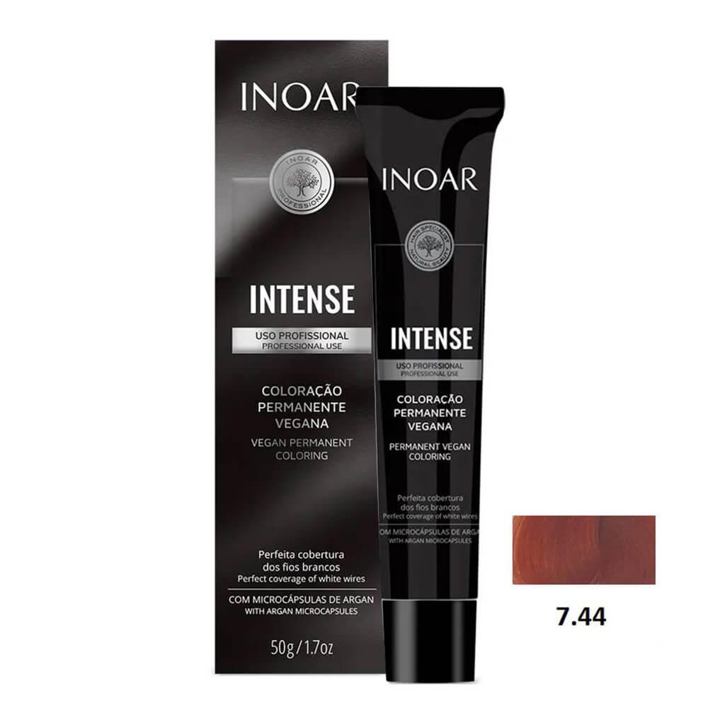 Inoar Intense Vegana 7.44 Louro Cobre Intenso - 50g