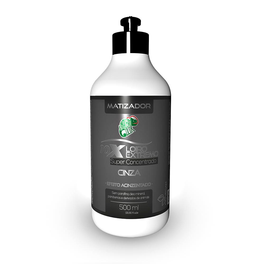 Kamaleão Color Matizador Loiro Extremo 10x Cinza - 500ml