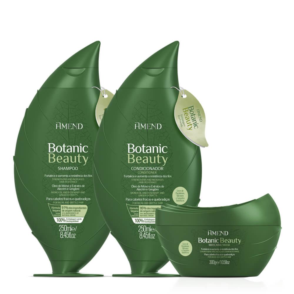 Kit Amend Fortalecedor Botanic Beauty - Shampoo, Condicionador e Máscara