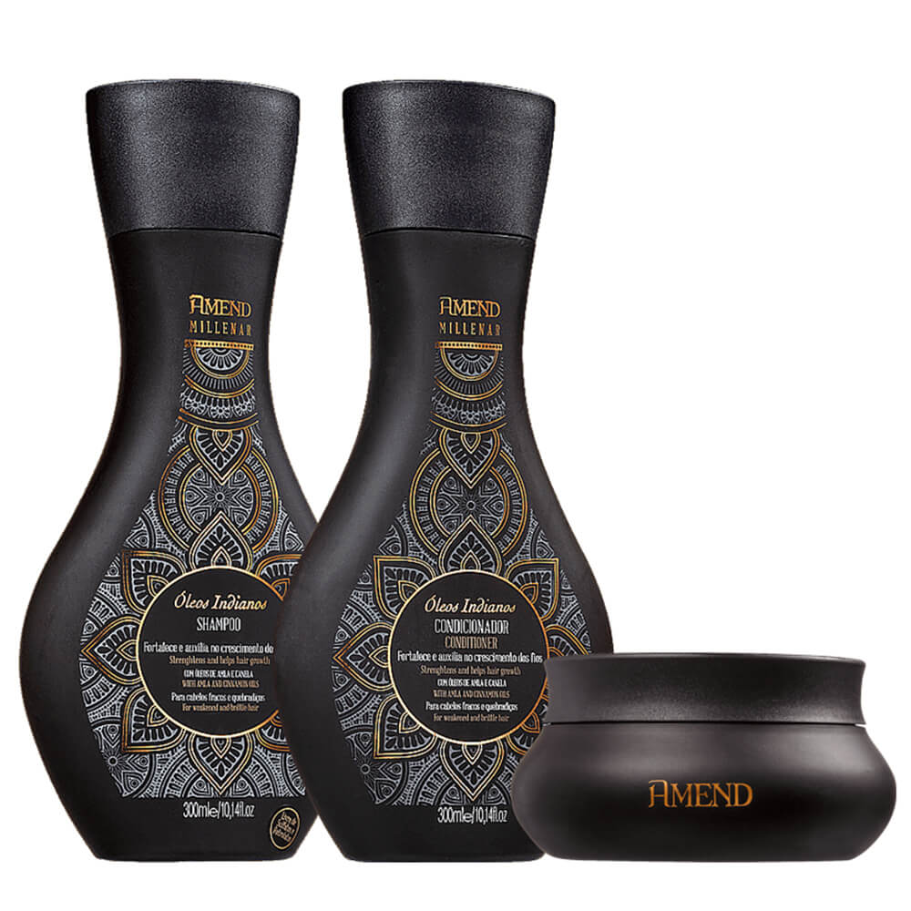 Kit Amend Millenar Óleos Indianos - Shampoo, Condicionador e Máscara