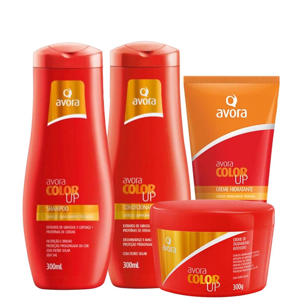 Kit Avora Color Up - Shampoo, Condicionador, Máscara e Leave-In