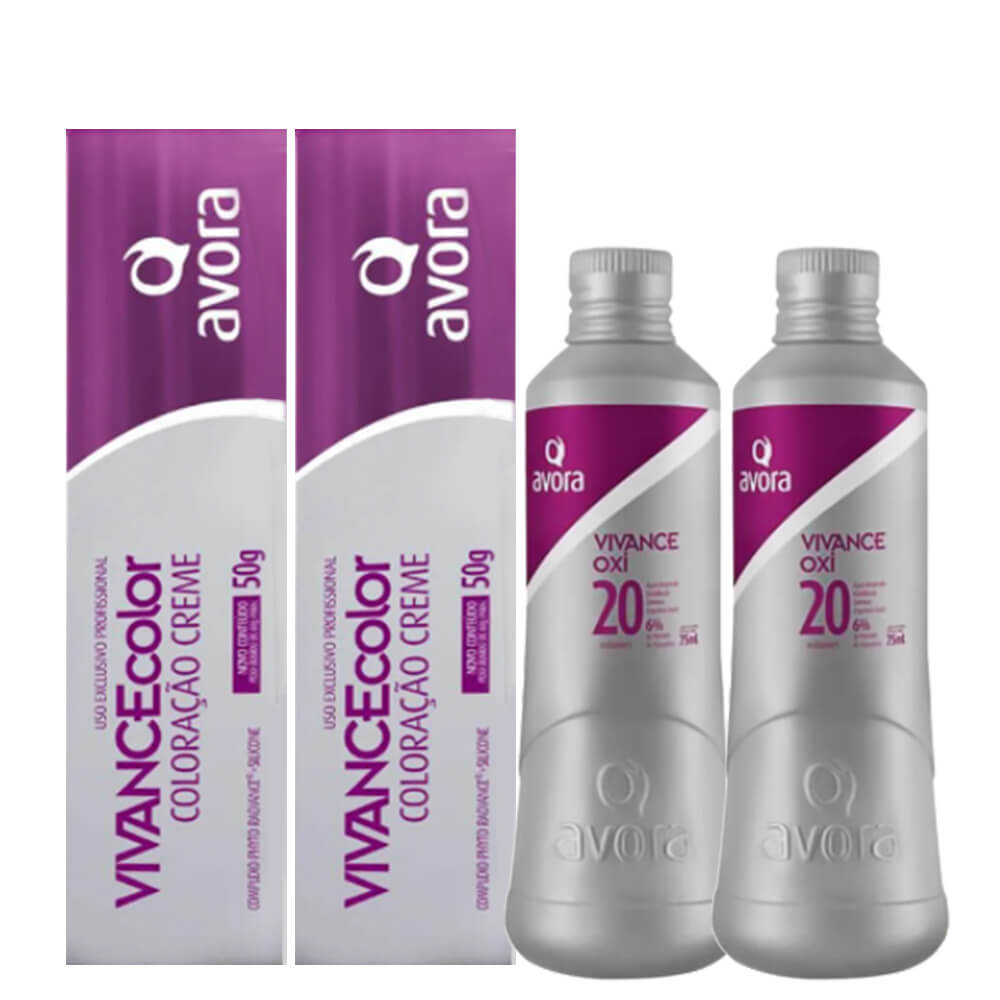 Kit Avora Vivance Color - 7.4 e Oxigenada 20vol