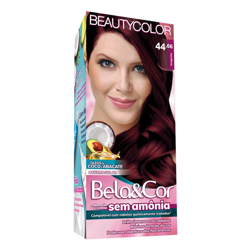 Kit BeautyColor Bela&Cor Sem Amônia 44.66 Borgonha
