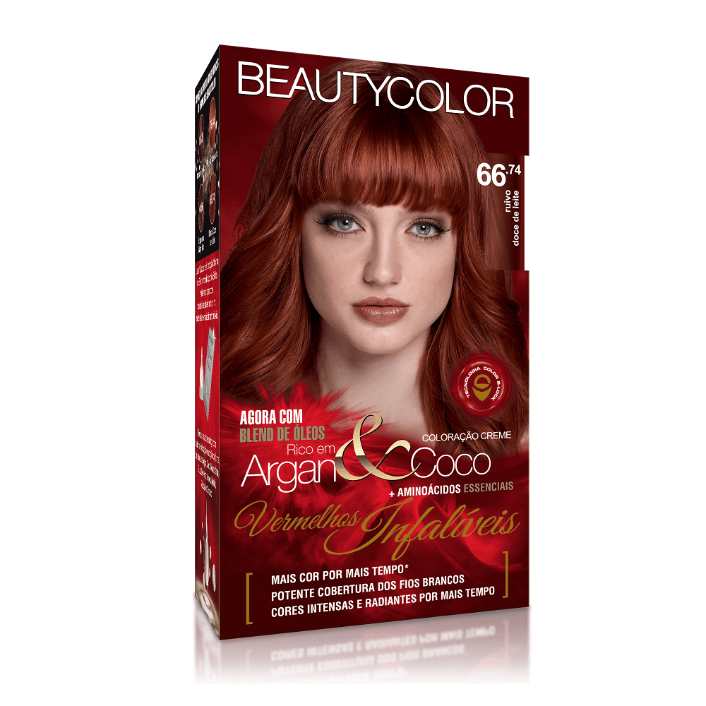 Kit BeautyColor 66.74 - Ruivo Doce de Leite