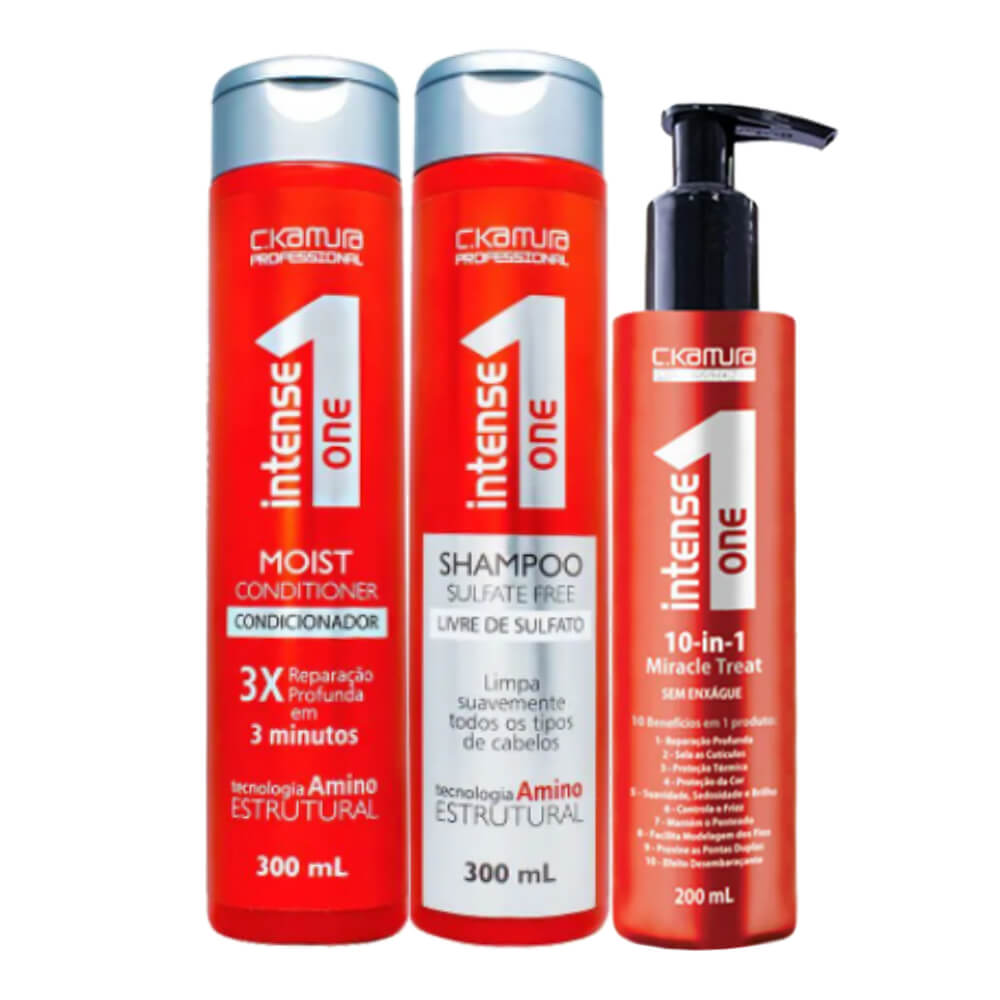 Kit C.Kamura Intense One 10-in-1 - Shampoo, Condicionador e Leave-In
