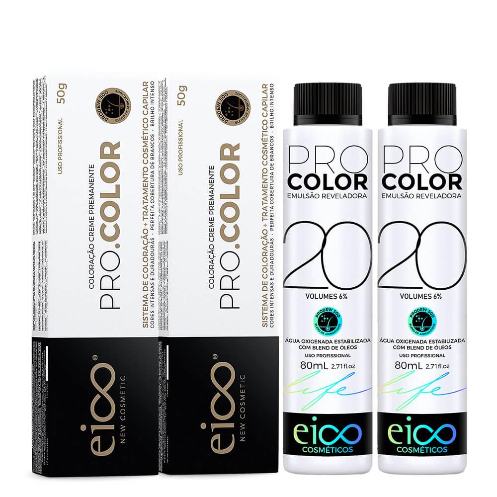 Kit Eico Pro Color - 7.4 Grátis Oxigenada 20vol