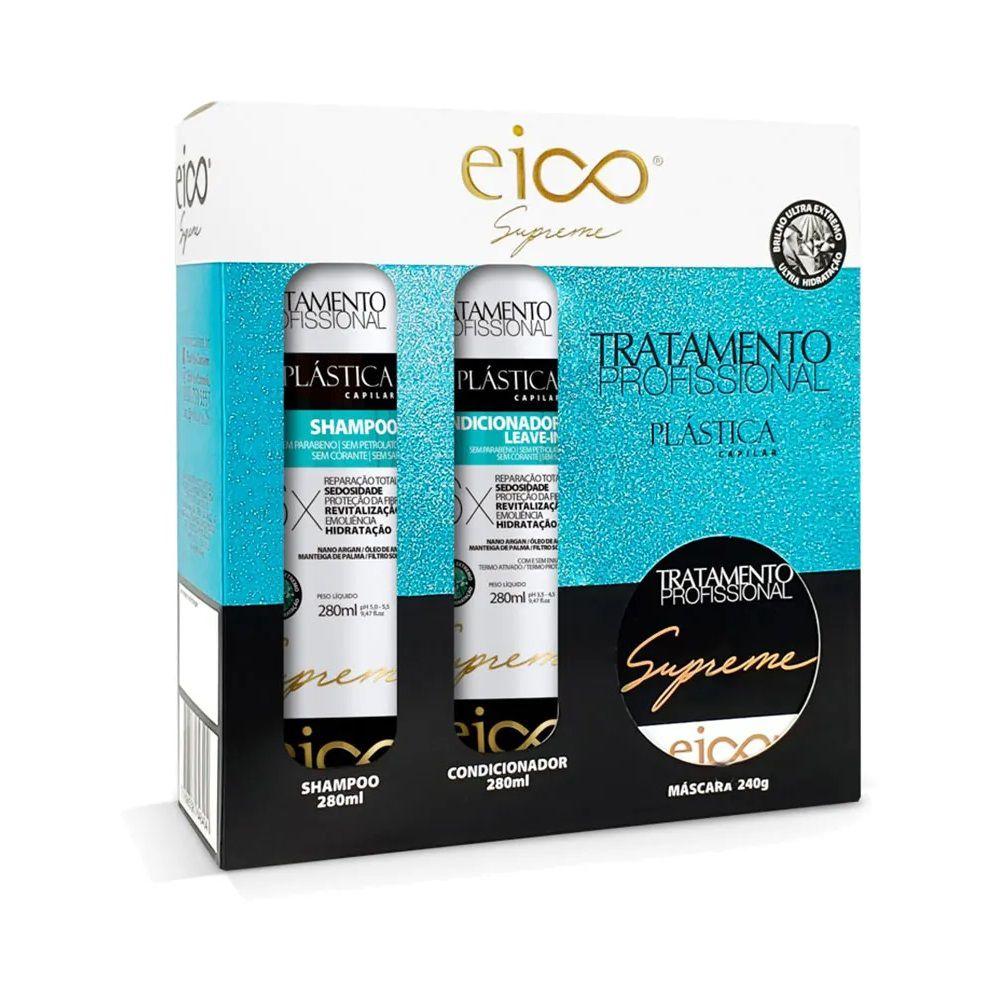 Kit Eico Supreme Plástica Capilar - Shampoo, Condicionador e Máscara