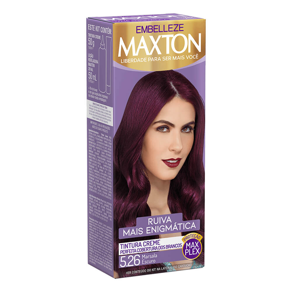 Kit Embelleze Maxton 5.26 Marsala Excuro Ruiva Mais Enigmática