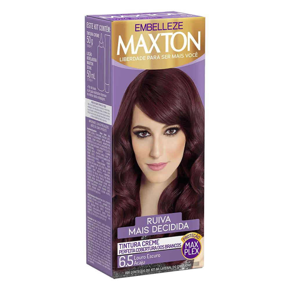 Kit Embelleze Maxton 6.5 Louro Escuro Acaju Ruiva Mais Decidida