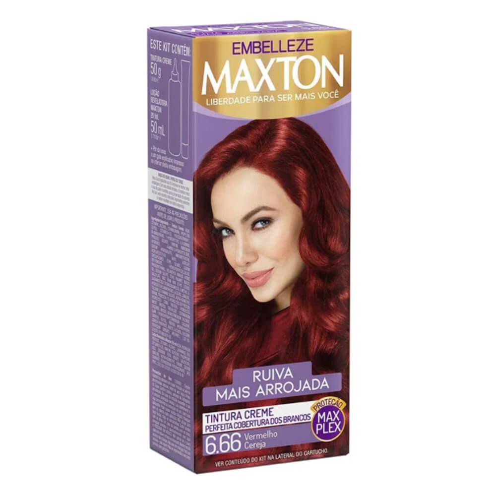 Kit Embelleze Maxton 6.66 Vermelho Cereja Ruiva Mais Arrojada