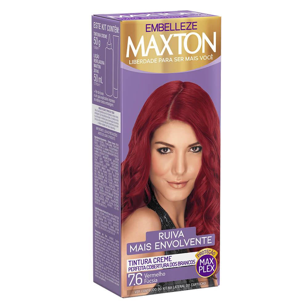 Kit Embelleze Maxton 7.6 Vermelho Fúcsia Ruiva Mais Envolvente