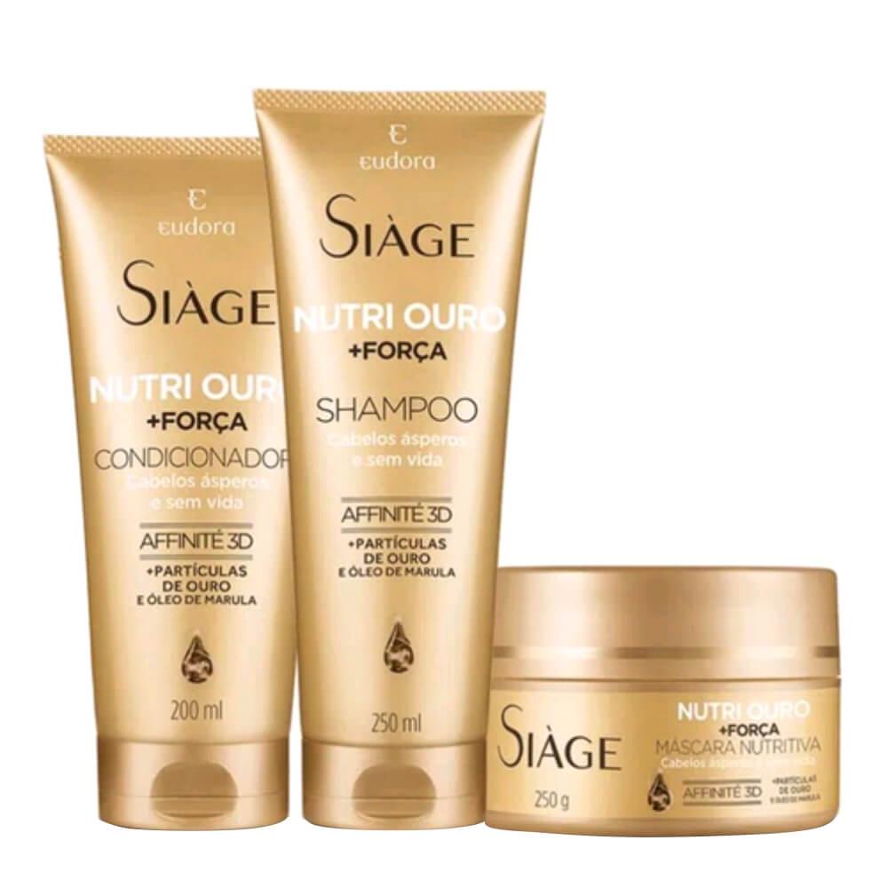 Kit Eudora Nutri Ouro - Shampoo, Condicionador e Máscara