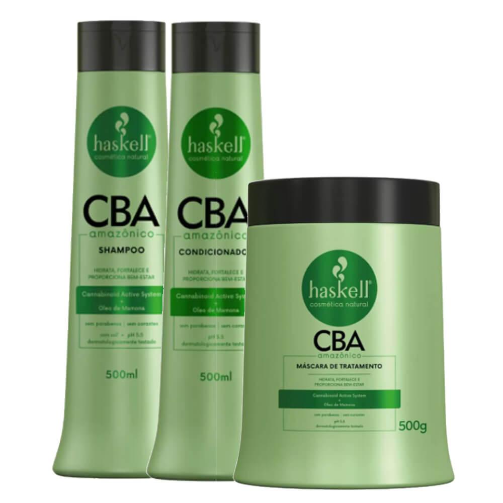 Kit Haskell CBA Amazônico - Shampoo, Condicionador e Máscara - 500g