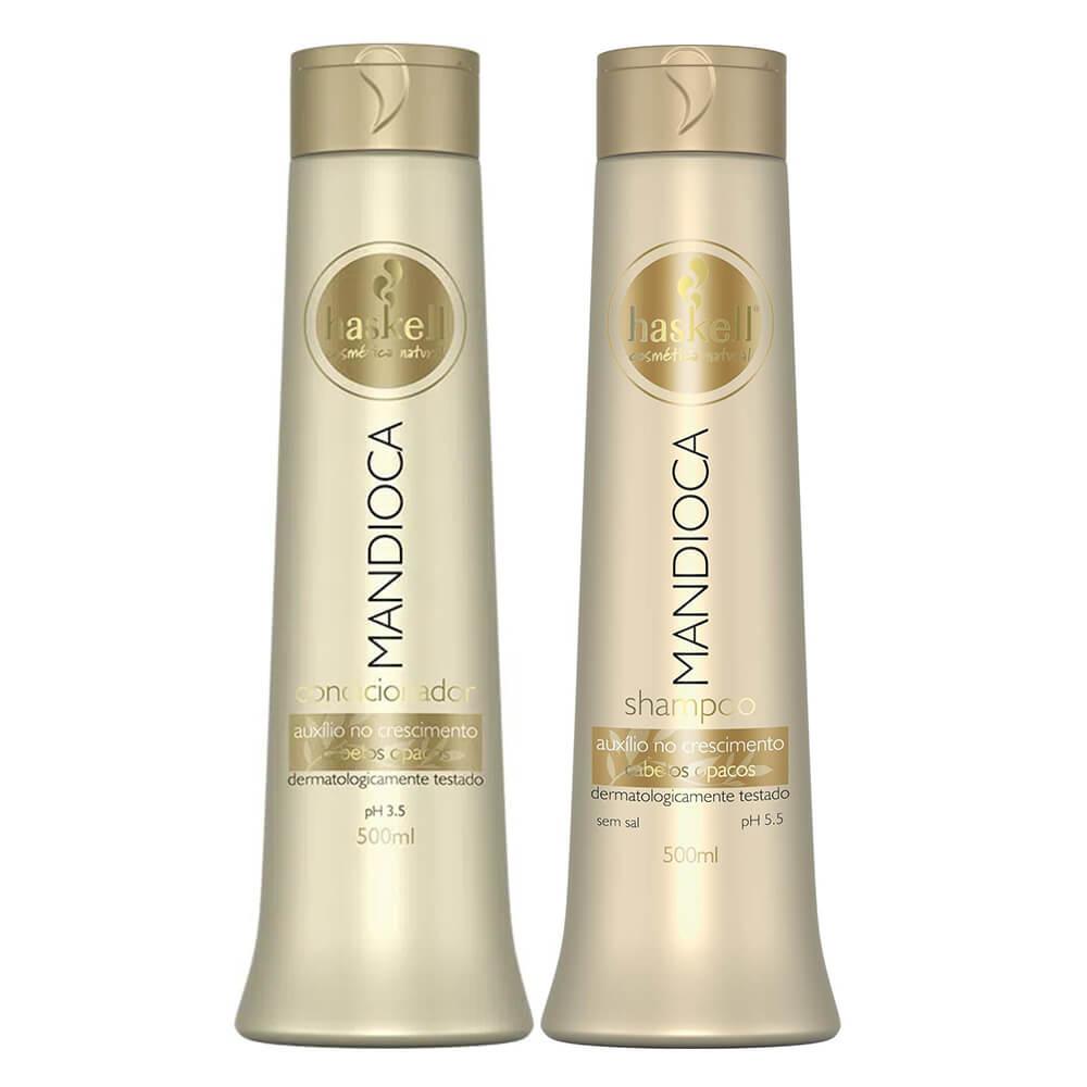 Kit Haskell Mandioca - Shampoo e Condicionador 500ml