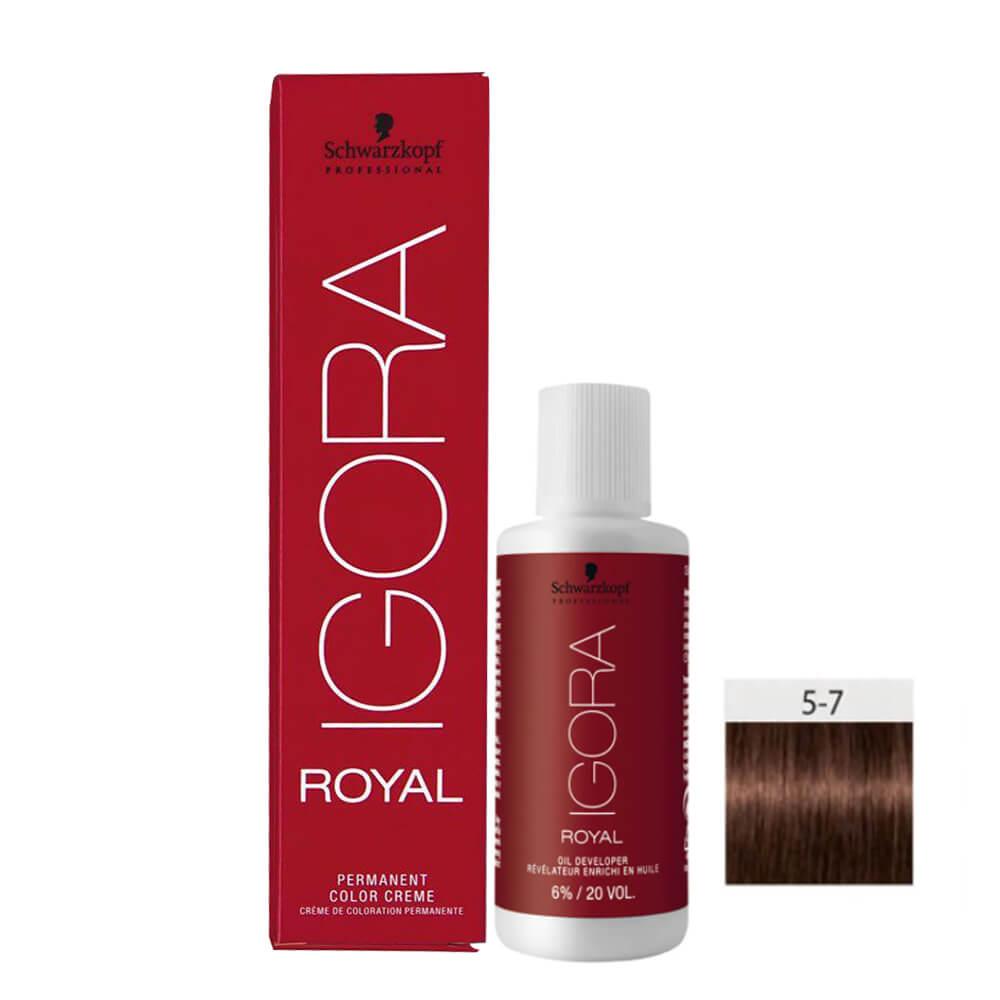 Kit Igora Royal HD 5-7 e Oxigenada 20vol 6%