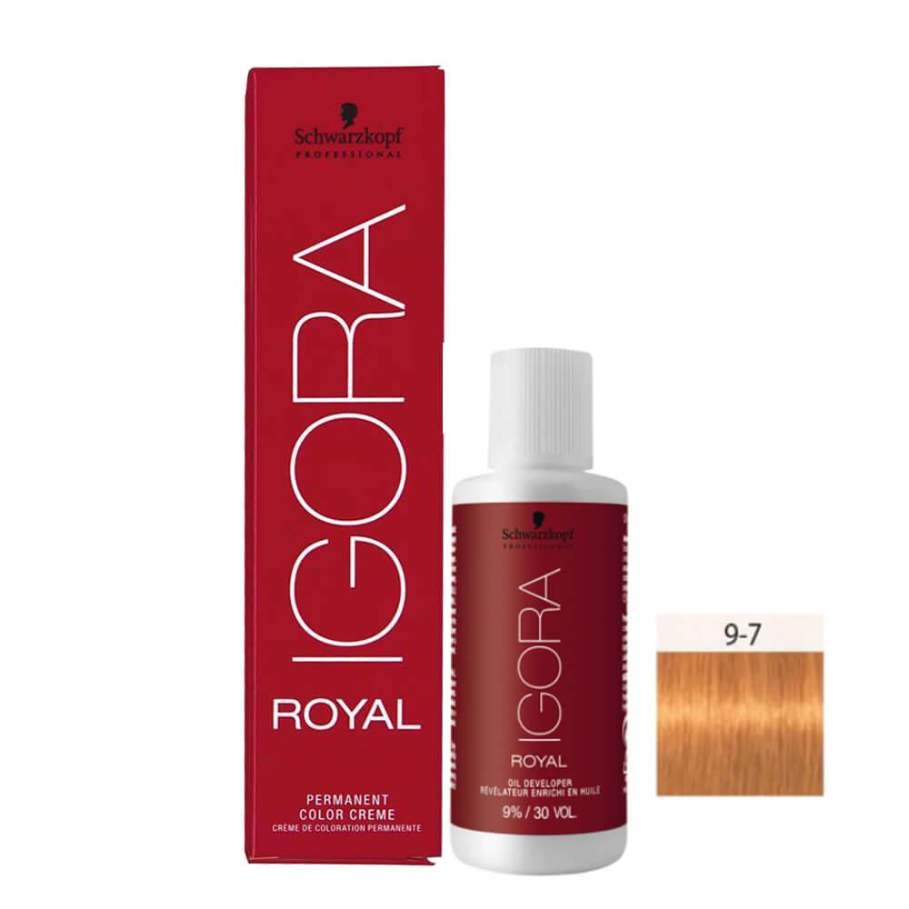 Kit Igora Royal HD 9-7 e Oxigenada 30vol 9%