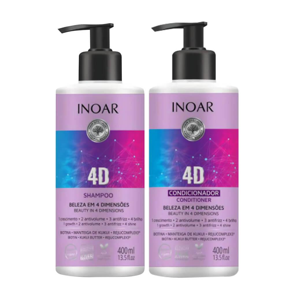 Kit Inoar 4D - Shampoo e Condicionador