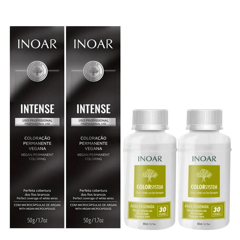 Kit Inoar Intense Vegana - 7.44 e Oxigenada 30vol