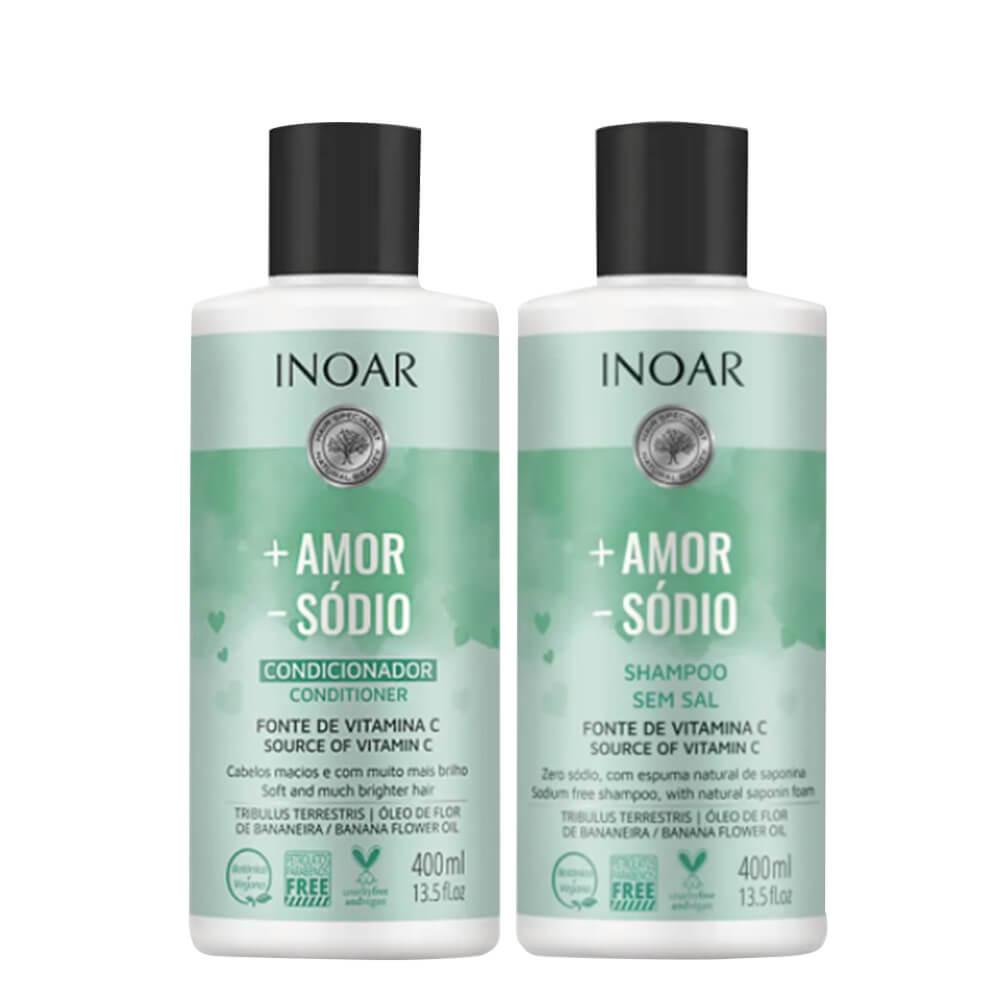 Kit Inoar Mais Amor Menos Sódio - Shampoo e Condicionador