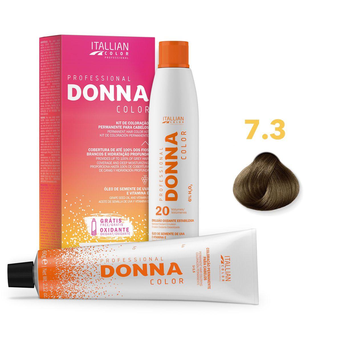 Kit Professional Donna Color 7.3 Louro Dourado