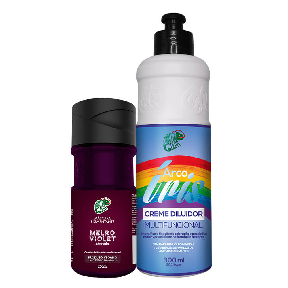 Kit Kamaleão Color - Melro Violet e Diluidor 300ml