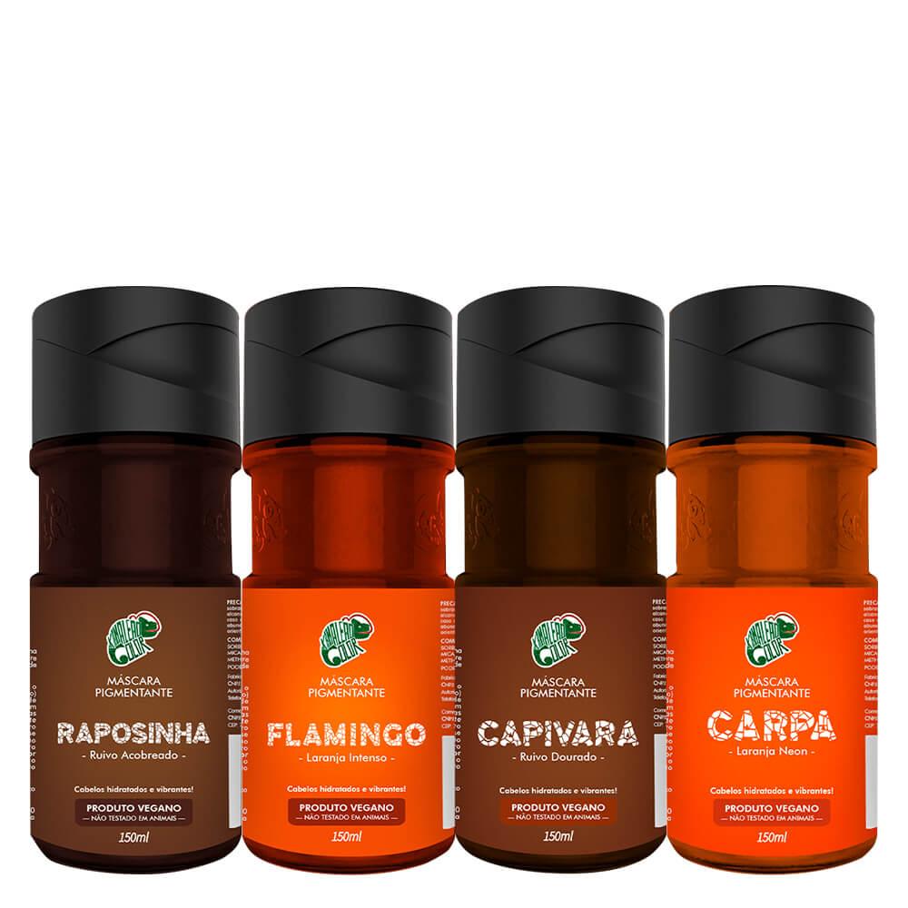 Kit Kamaleão Color - Raposinha, Flamingo, Capivara e Carpa